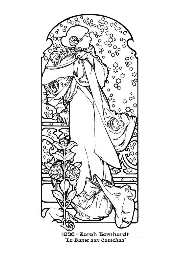 Alphonse Mucha Sarah Bernhardt