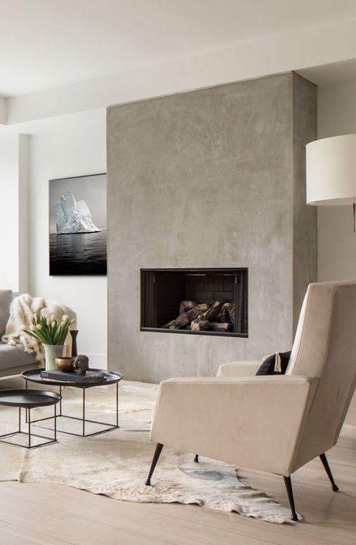 M s de 1000 ideas sobre chimeneas modernas en pinterest - Chimeneas para pisos ...