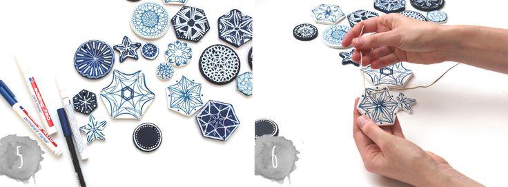 DIY Salzteigtaler mit BlaumalereiSchritt 5 bis 6 | www.theachievearchives.com