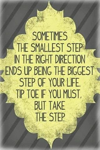 """#StrongForSummer - Second Week of Success! """"Sometimes the smallest step in the right direction ends up being the biggest step of your life, tip toe if you must but take the step"""" –  Dimvaloo Active Living"""