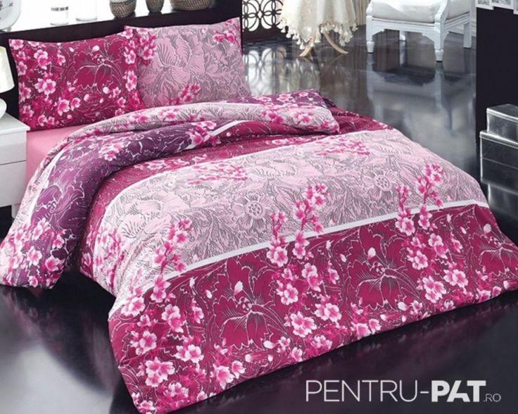 Set cuvertura pat pentru doua persoane Anatolia purple