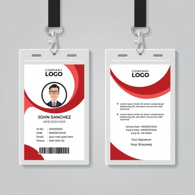 Creative Office Identity Card Template Identity Card Design Graphic Design Business Card Id Card Template