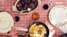 Geschmorte Rinderbacken mit Selleriepüree und gedünstetem Spinat
