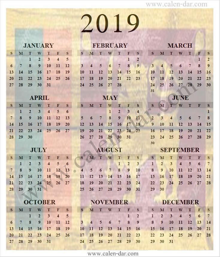 Print Calendar Sri Lanka 2019 | Sri Lanka Calendar 2019 ...
