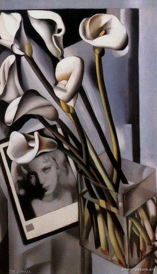 Tamara De Lempicka Arlette Boucard with Arums 1931