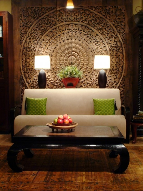 Thai Inspired Modern Design   Asian   Living Room   Chicago   By The Golden  Triangle Wow, I Wonder If I Could Paint This On My Wall.