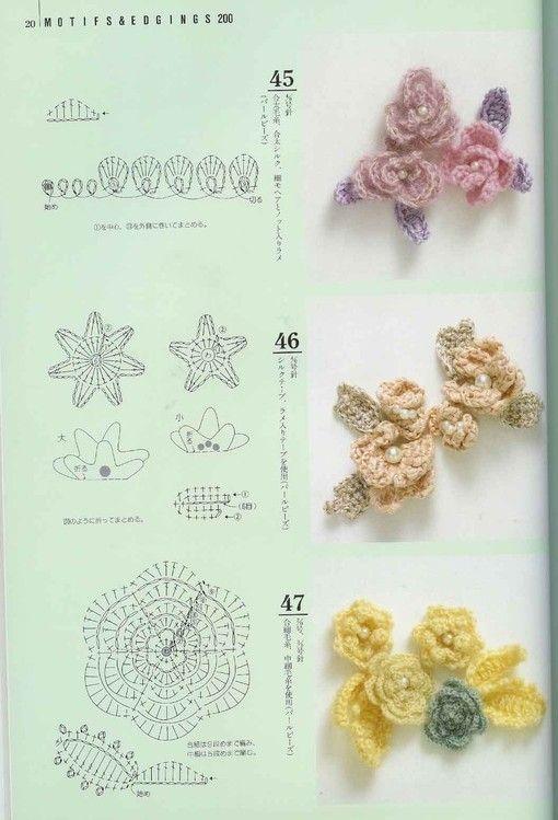 Flower charts GALA钩针4