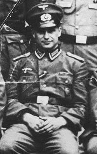 Klaus Barbie (October 25, 1913 – September 25, 1991) was an SS-Hauptsturmführer, soldier and Gestapo member. He was known as the Butcher of Lyon.