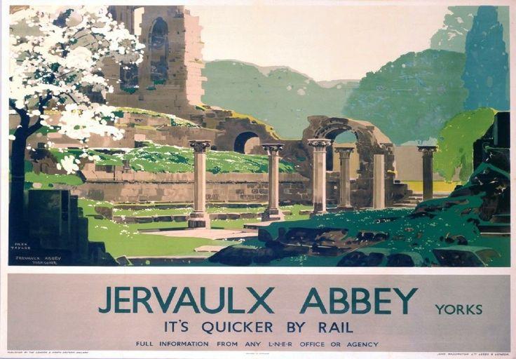 179 Vintage Railway Art Poster Jervaulx Abbey North Yorkshire *FREE POSTERS | eBay