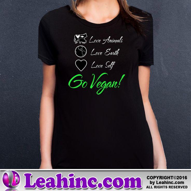 Vegan, Vegetarian, Causes, Men's, Ladies, Shirts, Tees, Go Vegan