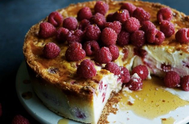 Good to Know . James Martin . Baked New York Raspberry Cheesecake . { lovely baked cheesecake recipe . a lovely fruity variation of that NY classic dessert . the Great British Bake Off 2015 . Episode4 . showstopper } .
