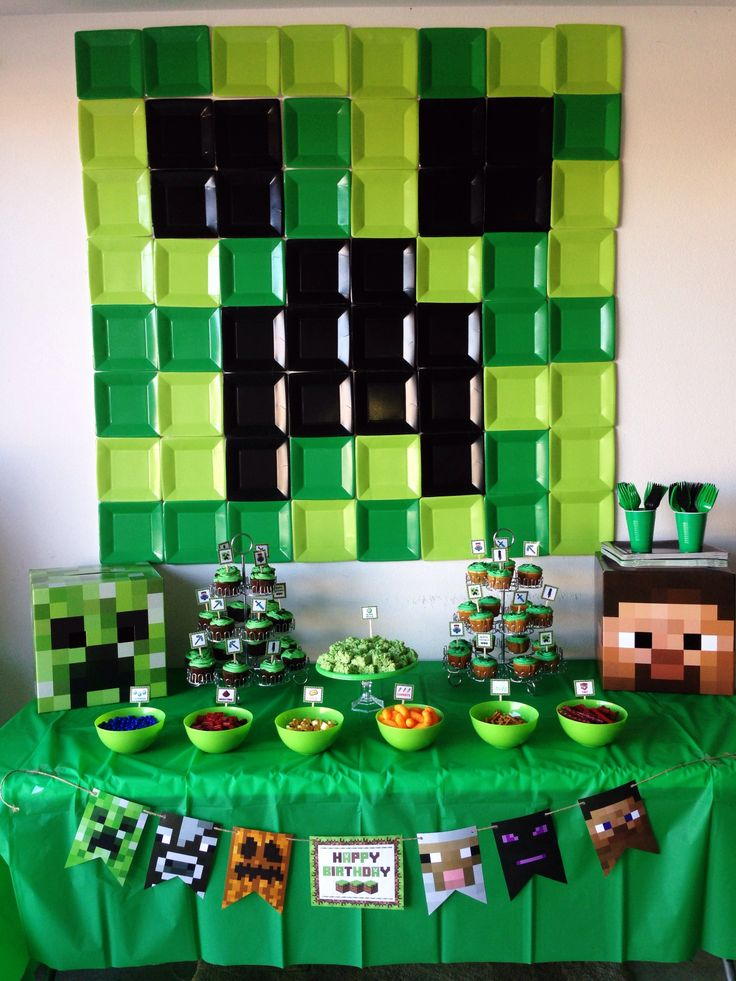 Minecraft Party! https://www.facebook.com/pages/Brookes-Crazy-Monkey-Creations/588025634548428?ref=bookmarks