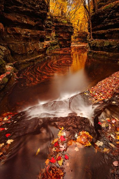 """Pewit's Nest #1 Baraboo, Wisconsin By Matt Anderson. """"http://dld.bz/travelWIApp Travel Wisconsin's App lets U use UR phone's GPS 2 find attractions/events/dining+ as U drive."""