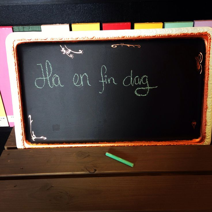 Blackboard made from an old serving tray