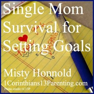 Single Mom Survival for Setting Goals