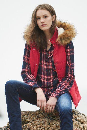 Faux Fur Hood Vest for Tall Women | Long Tall Sally USA