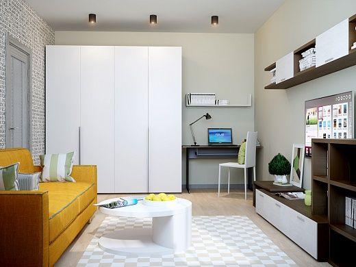 Вы – активная и творческая личность? Тогда этот красочный интерьер квартиры создан словно специально для вас! Позитивное настроение жителей квартиры обеспечивают смелые сочетания разных цветов в отделке помещений  и цветовом решении мебели.
