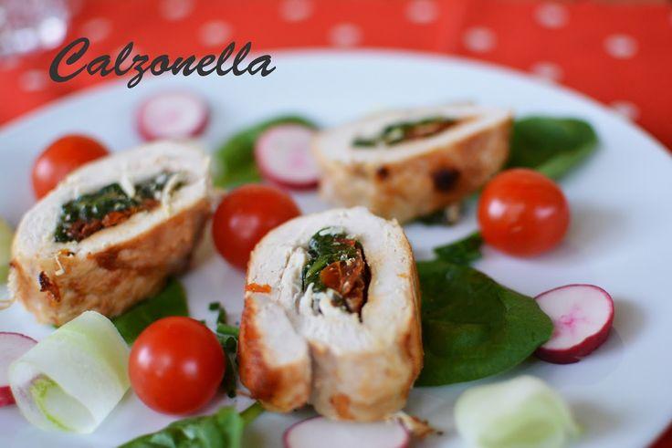Roladki z kurczaka ze szpinakiem i pomidorami suszonymi | Calzonella