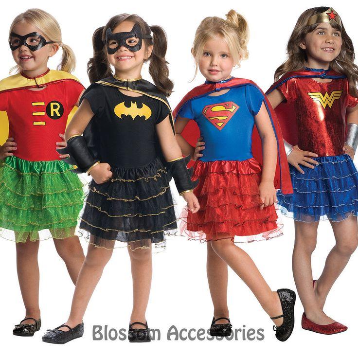 CK596 Robin Batgirl Wonder Woman Super Girl Tutu Super Hero Girl Toddler Costume in Ropa, calzado y complementos, Disfraces y ropa de época, Disfraces | eBay