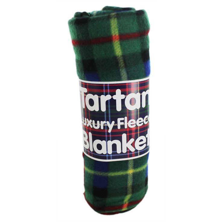 Tartan Luxury Fleece Blanket - Assorted