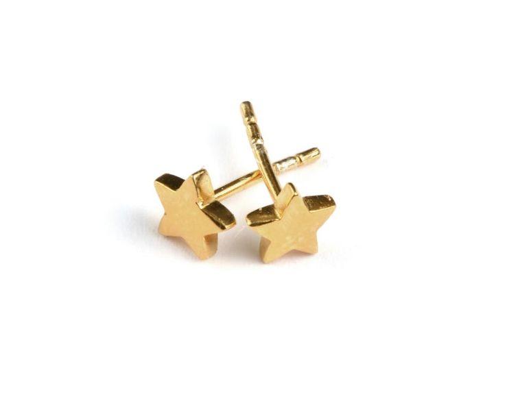 SPARKLE STAR EARRINGS GOLD