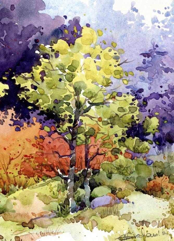 Watercolour landscape Natalie Graham