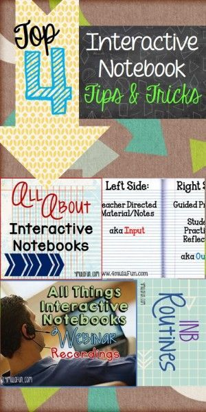 Top 4 Interactive Notebook Tips and Tricks Posts by 4mulaFun