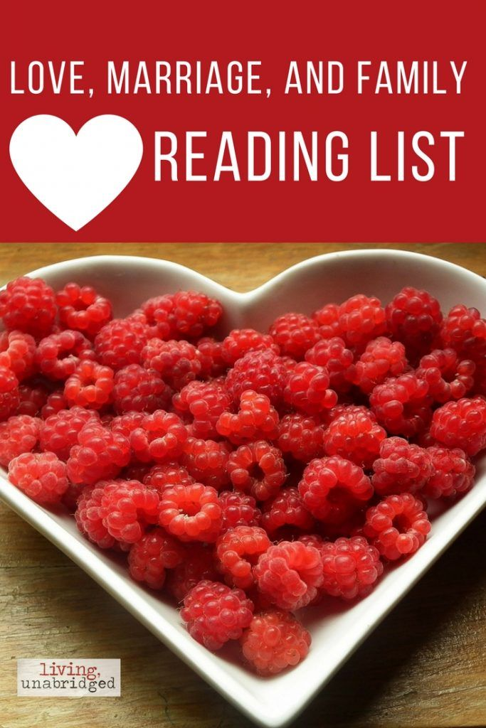 love marriage family reading list