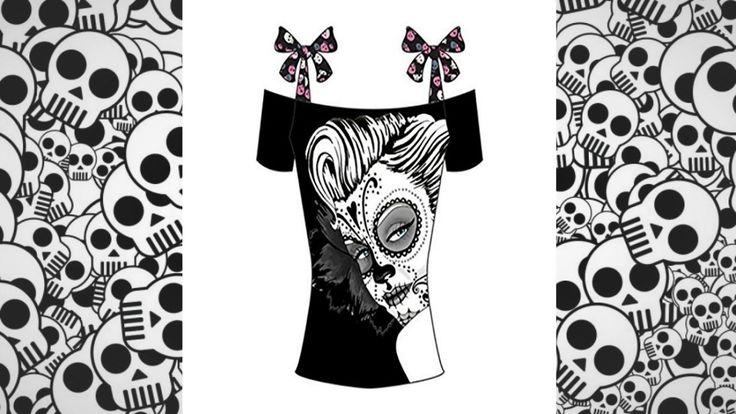 Camisetas de calaveras mujer