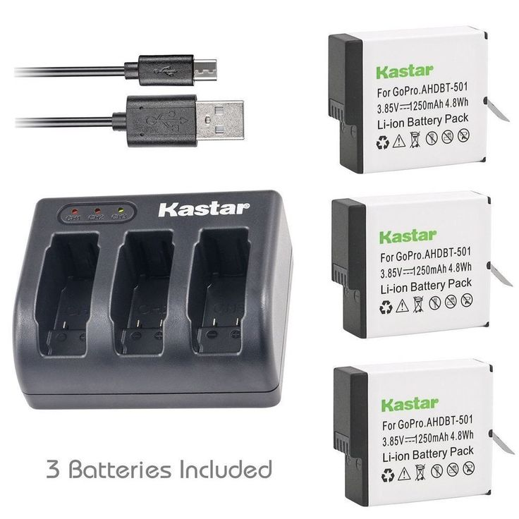 Fully Compatible-- The Kastar charger fully compatible with firmware v01.55, v01.57 and all future firmware update. GoPro HERO5. GoPro AHDBT-501. GoPro AABAT-001. GoPro 601-10197-000. GoPro HERO5 Black.   eBay!