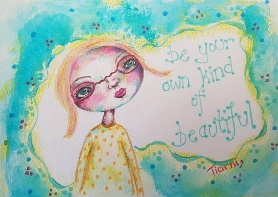 Hey, I found this really awesome Etsy listing at https://www.etsy.com/au/listing/531886304/colorful-whimsical-girl-painting