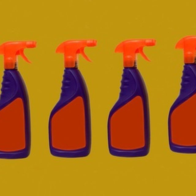 Put your homemade bleach cleaner in an old spray bottle.