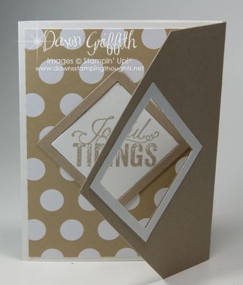 Fancy Flap card video by Dawn Griffith  Joyful Tidings  card