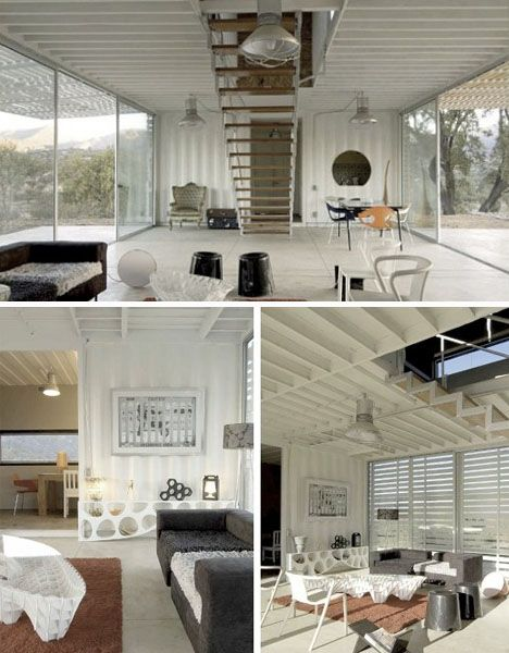 Container home interior shots bi level home for Maison container 81