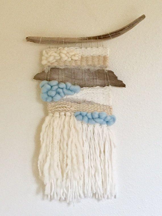 Tejido del colgante de pared / Mini / tapiz por Firehorsestudioshop