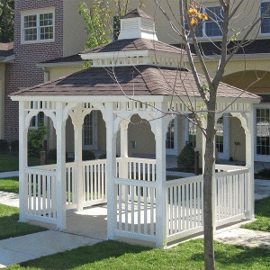 Vinyl Square Gazebos | Country Style Gazebo Kits www.gazebos.com gazebo designs