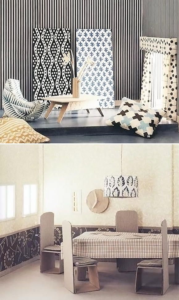 DIY Card­board Doll­house Fur­ni­ture. These are amazing!