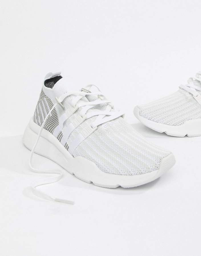 lowest price 29530 5f5dd On Sale - adidas Originals EQT Support Mid ADV Sneakers In White CQ2997 -  Sneakers by adidas Originals - Supplier code CQ2997 - Breathable mesh  upper ...