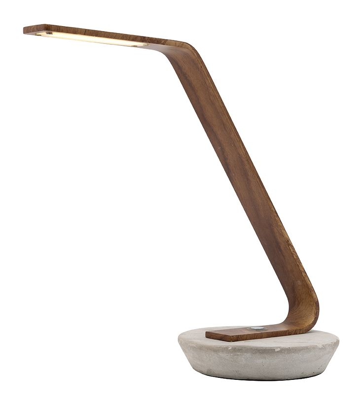 Harrison LED Task Lamp from Mercator Lighting. Concrete Base & Water Print Metal.