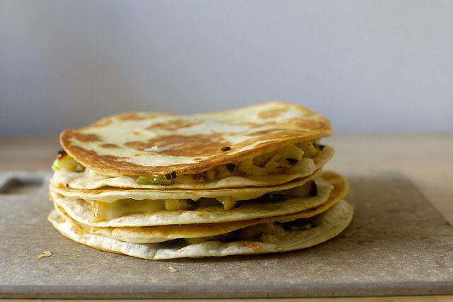 charred cauliflower quesadillas- Smitten Kitchen