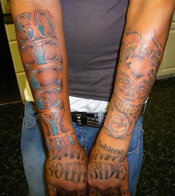 Waka flocka flame leg tattoos