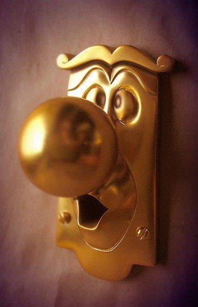 Door knob kids playroom - I want this.