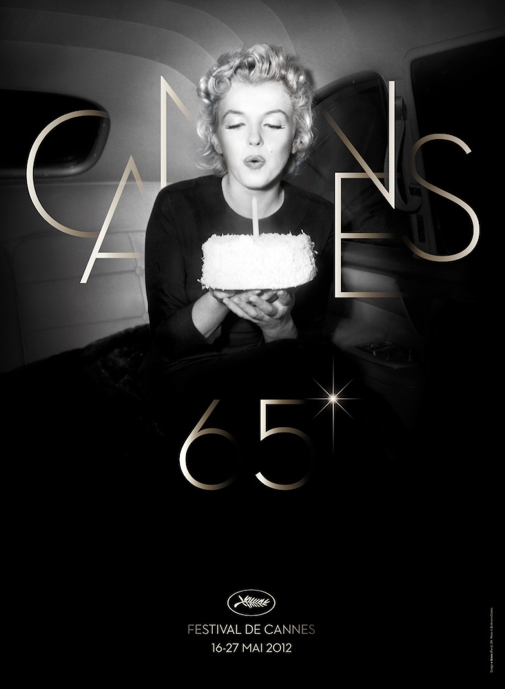 The new poster for the Cannes Film Festival's 65th Anniversary featuring Marilyn Monroe. Poster is also a touching tribute to the actress. August 5th, 2012 will mark the 50th anniversary of her death. The 65th Cannes Film Festival runs from May 16 -27. For more click on the picture above.