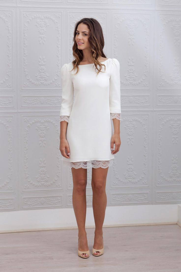 Robe de mariée courte - Marie Laporte, modèle Margot #bridaldress #robecourte #shortweddingdress