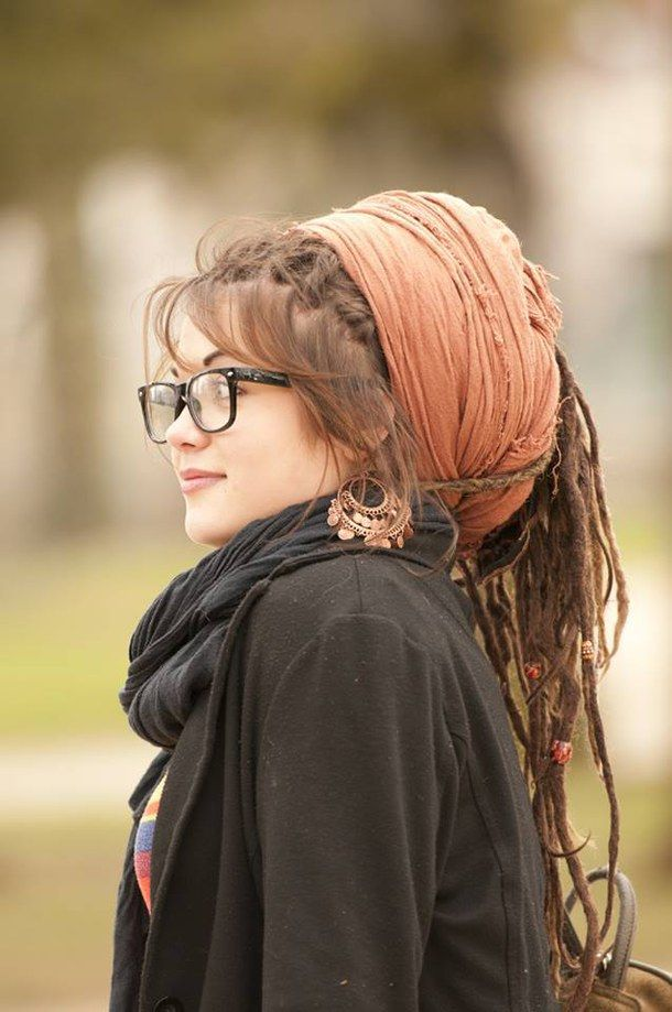 girl, glasses, gypsy, hair, indie, punk, style, dreads