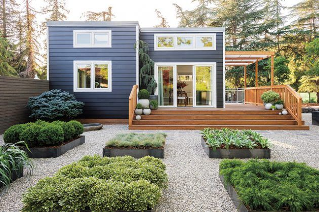 15 Outstanding Contemporary Landscaping Ideas Your Garden Needs - Stairs - Garden / Yard - Treehouse - House Exterior