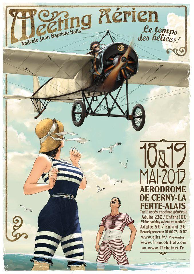 Poster vintage sobre aviação.                              …