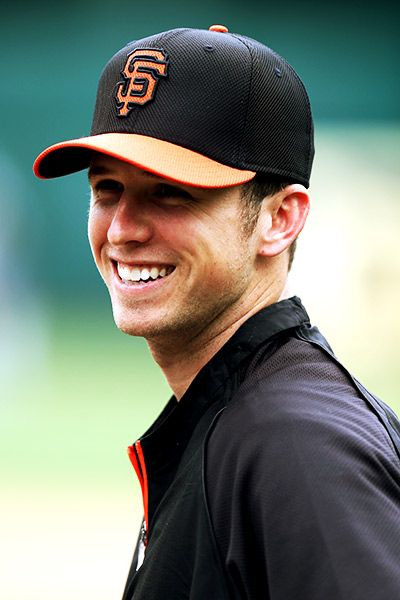 Buster Posey #28 Out of my menagerie of men & women, he's the TOP. He's my number #1. Truly what I wouldn't pay your wife for just 24 hours.