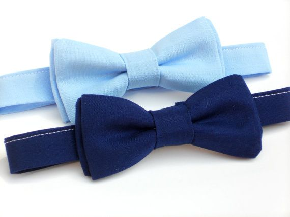 Navy blue bow tie for boys mens blue bow tie light by LilGents, $18.00