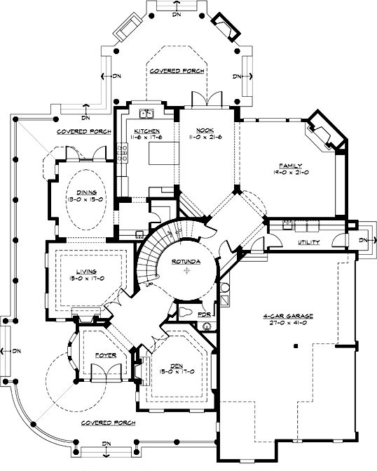 Luxury 3 Bedroom House Plans: 5250 Square Foot Home, 2 Story